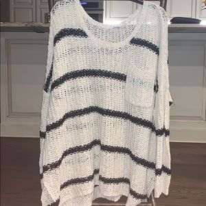 Free People black and white stripe sweater